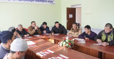 «On November 18,  in Naryn region informational meetings on opposition to bribery of voters were organized with citizens»