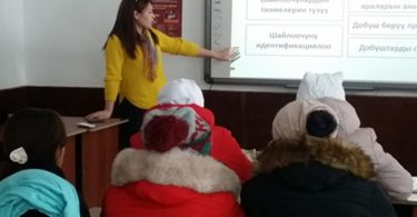 «Informational meetings with electorate were held in Talas region from 20 to 30 of November»