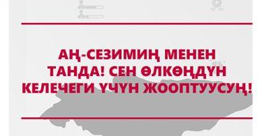 «29-ноябрда Жалал-Абад шаарында шайлоочуларды сатып алууга каршы туруу боюнча электорат менен маалыматтык жолугушуулар болуп өттү»