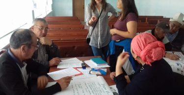 Обучение краткосрочных наблюдателей в городе Джалал-Абад