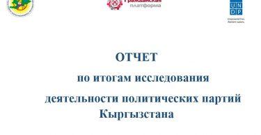 Отчет по итогам исследования деятельности политических партий Кыргызстана