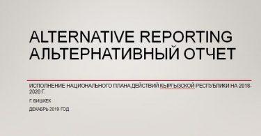 Исполнение Национального Плана действий Кыргызской Республики на 2018-2020гг.