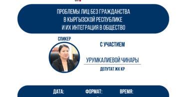 Онлайн дискуссия: «Проблемы лиц без гражданства в Кыргызской Республике и их интеграция в общество»