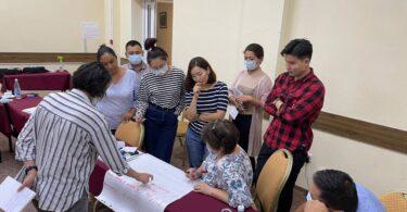 Международные эксперты Инта Лазе и Джованна Майола провели обучение для тренеров и активистов из Кыргызстана по предотвращению использования языка вражды